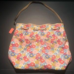 Coach Soft Floral Multi-Color Satchel Purse